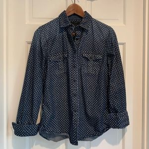 J. Crew Keeper Chambray Denim Button Up Blouse